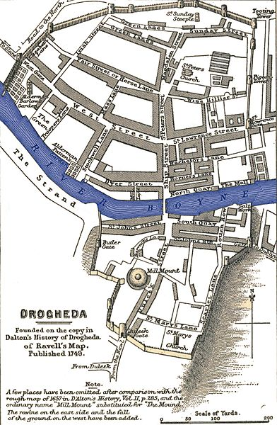 Map of Drogheda History of Ireland